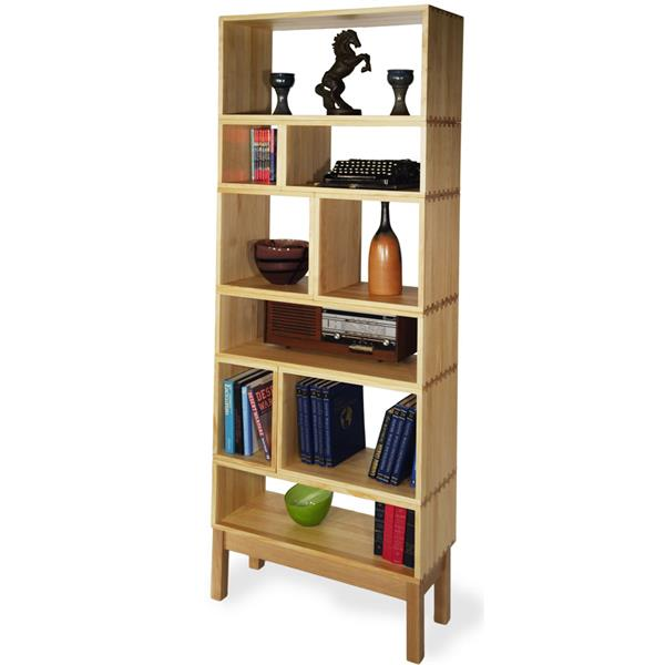 new styles 9d54c 50350 Solid Timber, Natural Box Shelving Unit, 750 x 1850 x 300 ...